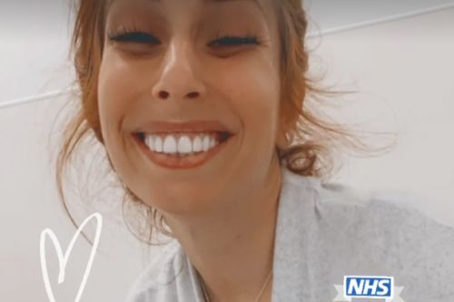 Stacey Solomon cradles son Rex after he gets stitches in hospital after fall