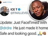 Ice-T reveals Dr. Dre is now HOME from hospital following his brain aneurysm