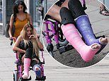Terrified Katie Price has been warned she could lose a leg