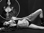 Kendall Jenner sizzles in black bikini and leather boots as she appears on the cover of V130