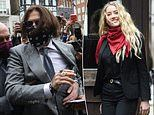 Johnny Depp and Amber Heard at High Court for day eight of trial