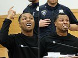 Ex-NBA player MELTS DOWN in court after he's sentenced to 3.5 years in prison on gun charges