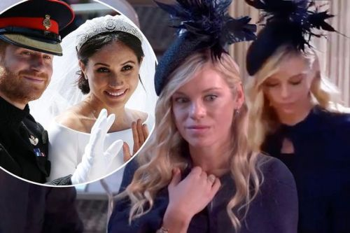 Prince Harry's ex-girlfriend Chelsy Davy added a 'soap opera' quality to royal wedding with that side eye