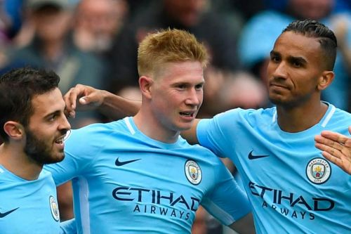 Manchester City 5 Swansea 0: Kevin De Bruyne, Raheem Sterling, Gabriel Jesus, David Silva and Bernardo Silva score in easy rout for champions
