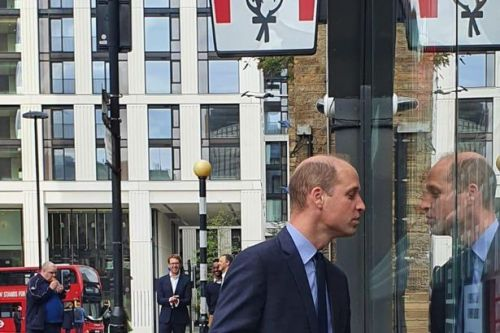 KFC's cheeky joke as William is spotted peeking at stunned diners through window
