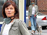 Helena Christensen, 51, shows off makeup free complexion as she steps out in NYC for an errands run