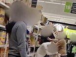 Huge brawl breaks out in the middle of an Asda cereal aisle in front of horrified shoppers