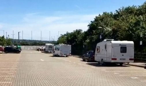 Travellers hold rugby club to ransom as they demand £1,500 to leave stadium car park