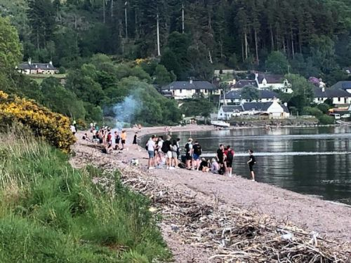 Disappointment as youths flout social distancing guidelines at Dores Beach