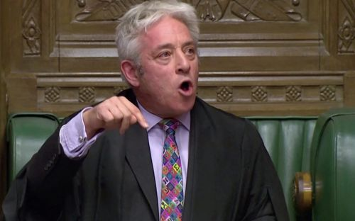 Monday evening news briefing: Speaker John Bercow blocks meaningful vote on Brexit deal