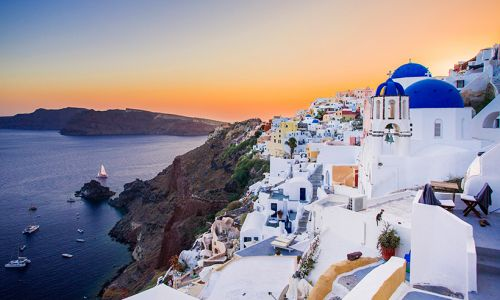 Private pools, luxury suites and pink sunsets make this the dreamiest hotel in Santorini
