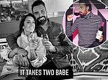 Rylan Clark-Neal enjoys a drink with his new Strictly It Takes Two co-host Janette Manrara