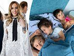Rebecca Judd enjoys a sleep in with her three sons - but the sweet family photo ended in tears