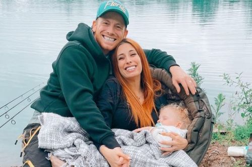 Pregnant Stacey Solomon drools over Joe Swash on Father's Day fishing trip