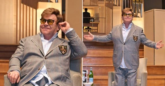 Elton John returns to The Royal Academy of Music after revealing shock near-death experience