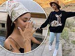 Ariana Grande gets back to nature with beauDalton Gomez and pals in photos from recent trip to Utah