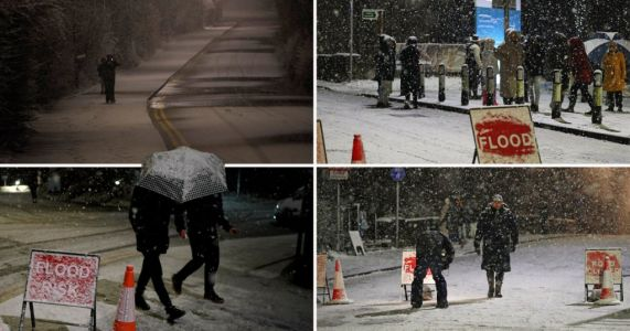 Torrential rain turns to heavy snow as Storm Christoph causes flooding chaos