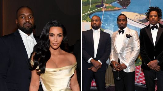 Kanye West puts Jay Z feud behind him as he glams up with Kim Kardashian for Diddy's 50th party
