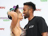 Faye Winter stuns in a see-through sequin crop top as she TOUCHES TONGUES with Teddy Soares