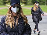 Sofia Richie bundles up in as she heads to Pilates wearing an all-black ensemble in Los Angeles