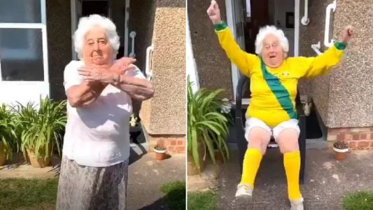 Great-gran, 88, becomes TikTok star with millions of fans as granddaughters film her dancing