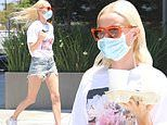 Kate Bosworth showcases flawless figure in t-shirt and denim cutoffs as she picks up lunch in LA
