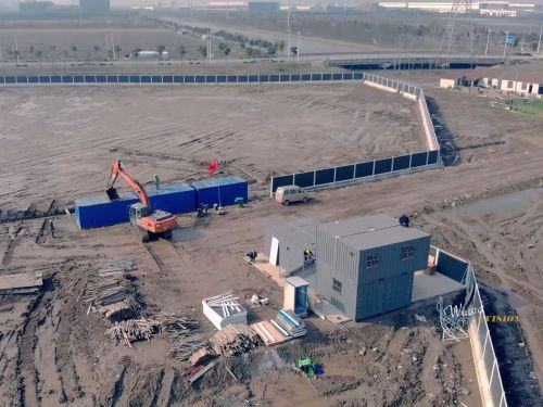 A drone video claims to show the first stages of construction on Tesla's Chinese factory