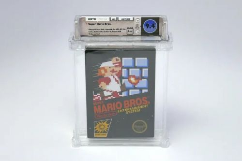 Sealed copy of Super Mario Bros. video game sells for £78,000