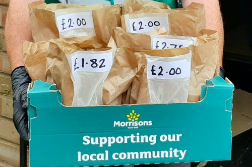 Morrisons introduces grocery parcels for customers to buy for local food banks