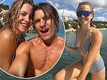 Pixie Lott poses withfiancé Oliver Cheshire in throwback snap