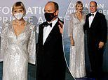 Belle of the ball! Princess Charlene is glamorous in a floor-length silver gown