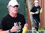 Will Ferrell goes for a solo jog in an attempt to stay fit while isolating and social distancing