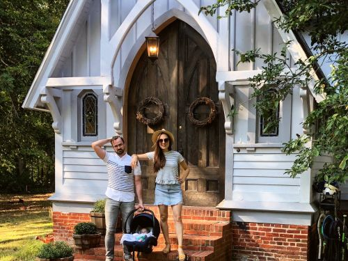 A Maryland couple bought a 120-year-old church for $320,000 and now live in it with their 3 kids - here's a look at how they turned it into a home