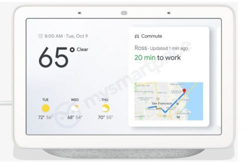 "Pictures leak of the ""Google Home Hub,"" Google's version of a smart display"