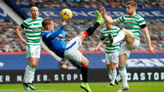 Watch: Northern Ireland captain Davis scores stunning overhead kick to help Rangers knock Celtic out of Scottish Cup