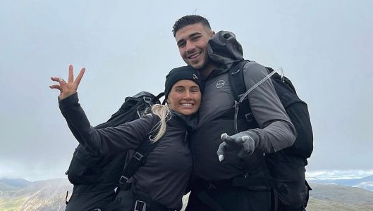 Molly-Mae Hague and Tommy Fury pucker up for kisses as couple enjoy romantic camping trip