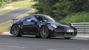 New Porsche 911 Turbo hybrid spied at the Nurburgring