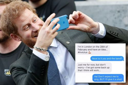 Prince Harry shares screenshots of his texts to famous pal - including cheesy joke