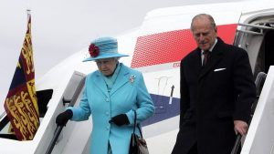 There's one rule that the Queen must follow when she steps off a plane