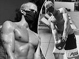Cody Simpson works out wearing mask for 'oxygen deprivation training'