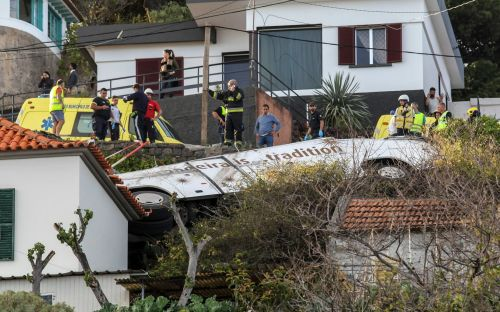Madeira bus crash: 28 people dead after tourist coach overturns on Portuguese island