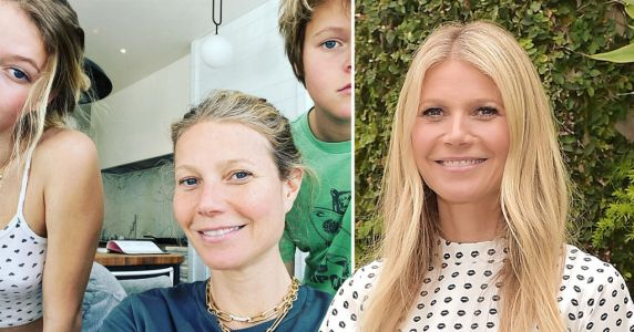 Gwyneth Paltrow jokes kids Apple and Moses are her 'moral support' while working from home in rare family snap