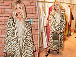 Lady Amelia Windsor cements her fashion credentials in a zebra print coat