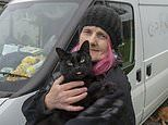 Pensioner who was evicted from her bungalow by bailiffs after her hoarding became a fire hazard