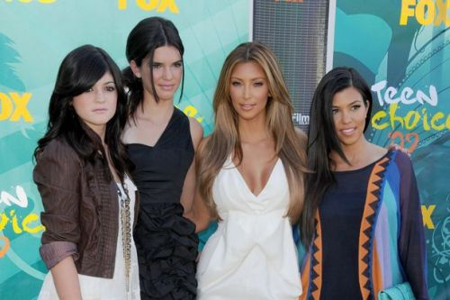 Kim Kardashian and Kylie Jenner look unrecognisable in viral throwback snap