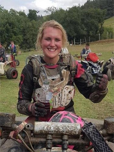 Quad biker, 24, dies after being crushed by her own vehicle during race
