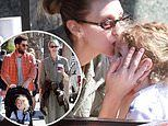 Whitney Port tenderly kisses Sonny on the head during family outing