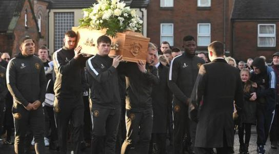 Jerry Thompson's loving nature touched so many people, priest tells funeral of tragic footballer