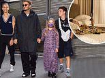David and the Beckham boys push the fashion boundaries at 'exhausted' Victoria's LFW presentation