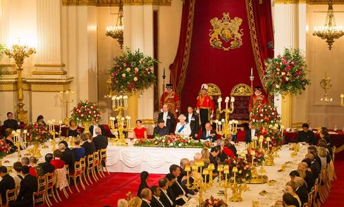 Stunning royal dining rooms: the Queen and Prince Philip and more